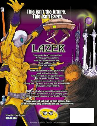 LAZER General Rules and Species Back Cover